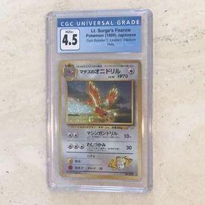 Lt Surge's Fearow Pokémon Holo Japanese CGC 4.5